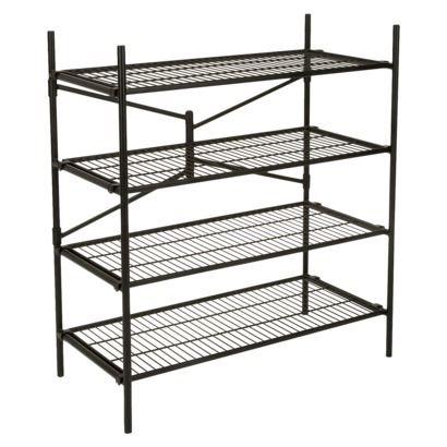 cosco garage 4shelf storage rack black