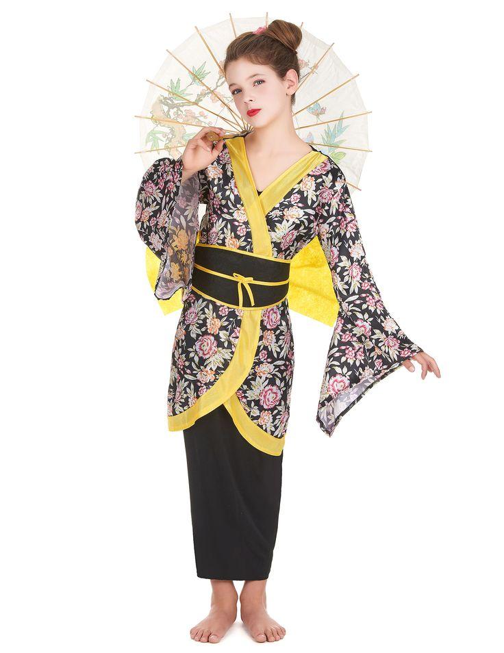 die besten 25 geisha kost m ideen auf pinterest geisha geisha make up und japanischer kimono. Black Bedroom Furniture Sets. Home Design Ideas