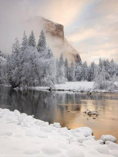 Beautiful winter lake