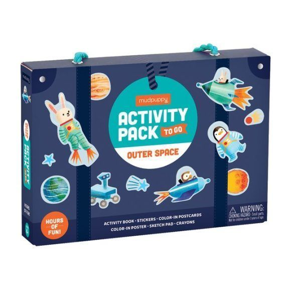 Kids Toys Activity Pack To Go Outer Space Navy Blue Mudpuppy In 2020 Space Activities Outer Space Activities Activities