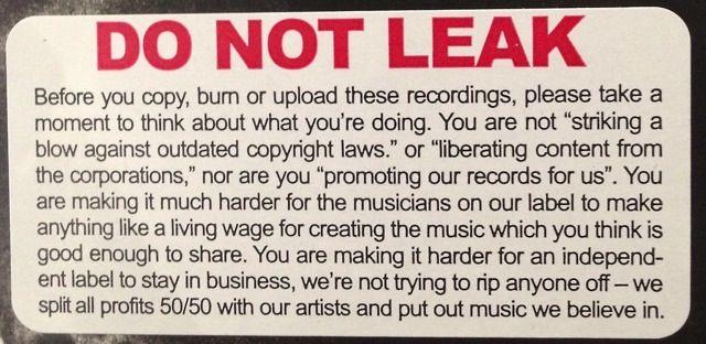 Ninja Tune Puts This Warning Sticker On All New Releases... - Digital Music News