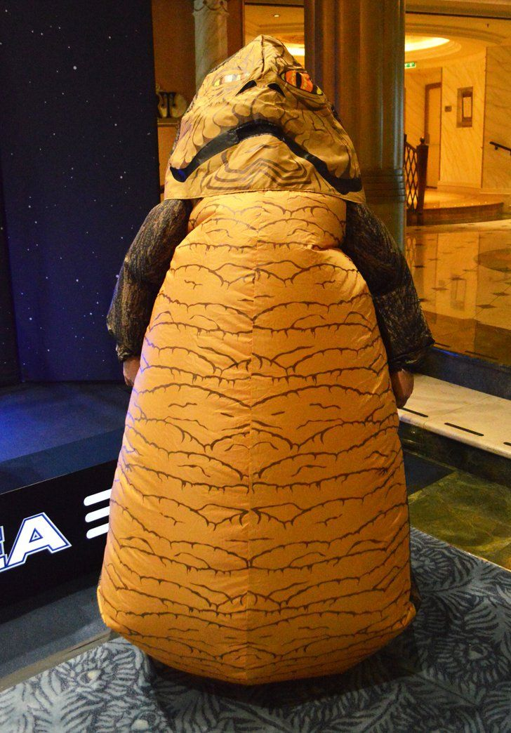 Pin for Later: 23 Incredible Costumes From the First Star Wars Day on a Disney Cruise Jabba the Hutt
