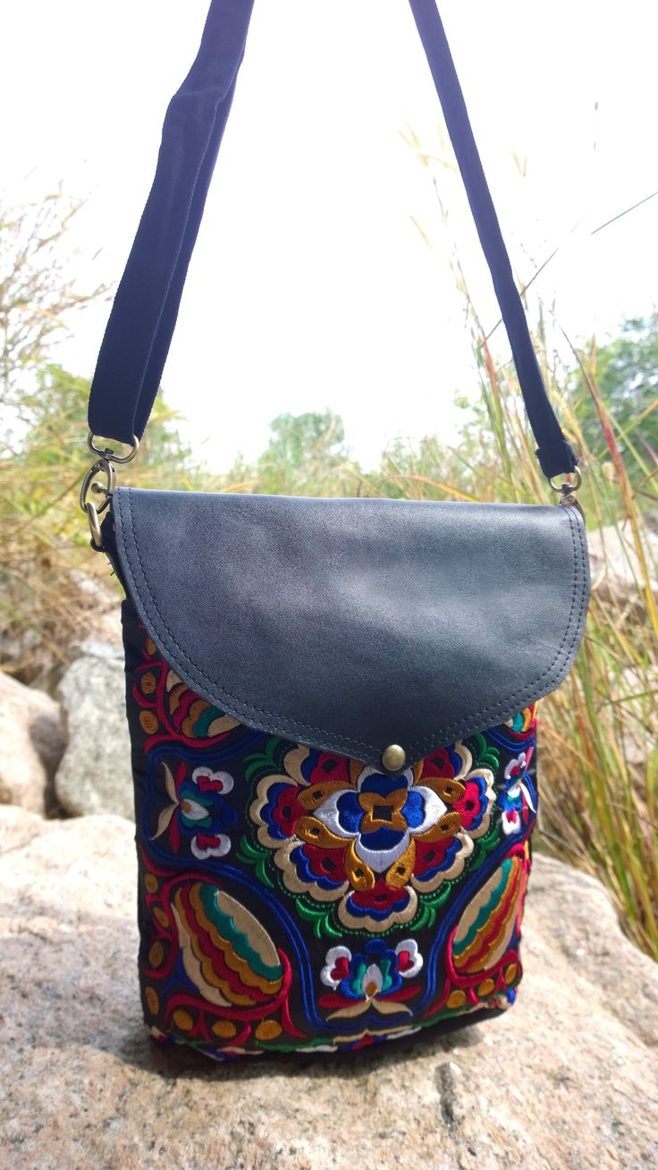 Tribal Leather Crossbody Bag Available at PASABOHO