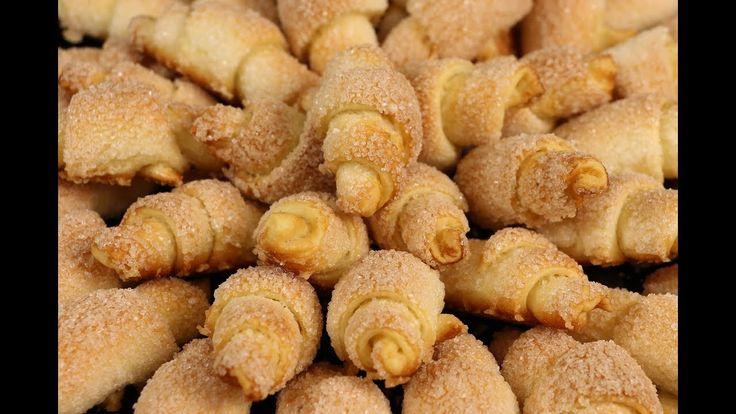 Любимое Всеми И Необыкновенно Вкусное Печенье - Сахарные Рогалики! Остан...