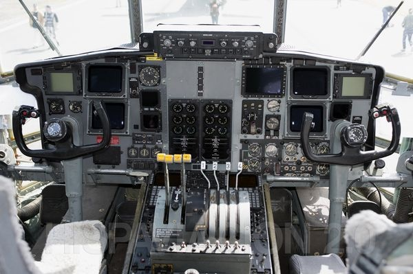 Cockpit of C-130 Hercules
