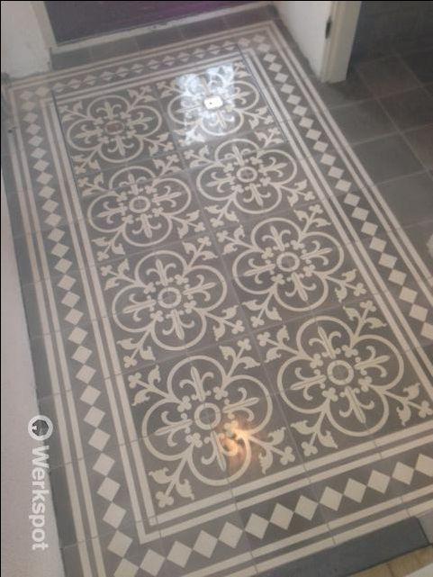Mooie landelijke tegels, prachtig patroon voor in de badkamer. Zorgt voor een klassieke, landelijke stijl, kasteelsfeer.