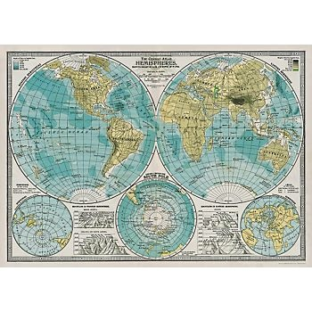 Cavallini Hemisphere Map Wrapping Paper. $3.95 Such an inexpensive way to buy beautiful art.