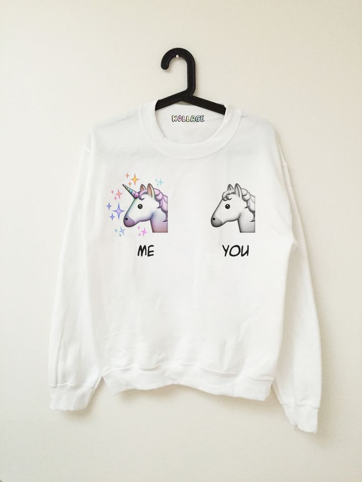 Me vs U Emoji Unicorn Sweatshirts