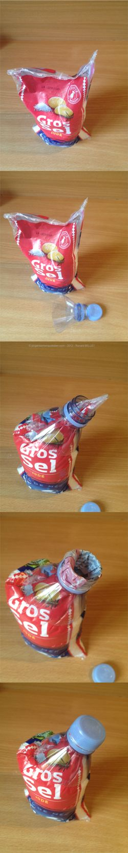 Comment réaliser un bec verseur gratuit. Bien pratique pour les produits conditionnés dans des emballages en  plastique.