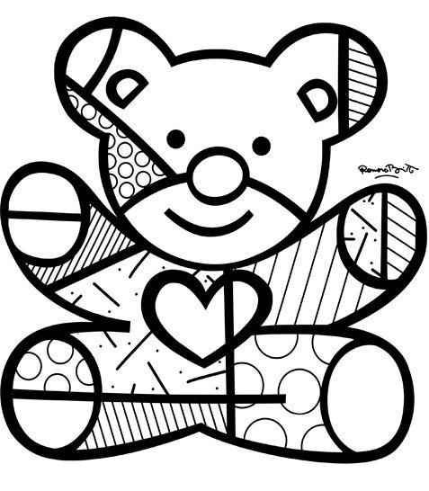 Pinturas do Romero Britto desenhos para imprimir colorir e pintar » Desenhos para pintar e colorir