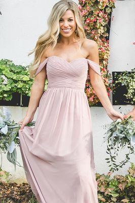 Kenney Bridesmaid Dress in Rose Quartz