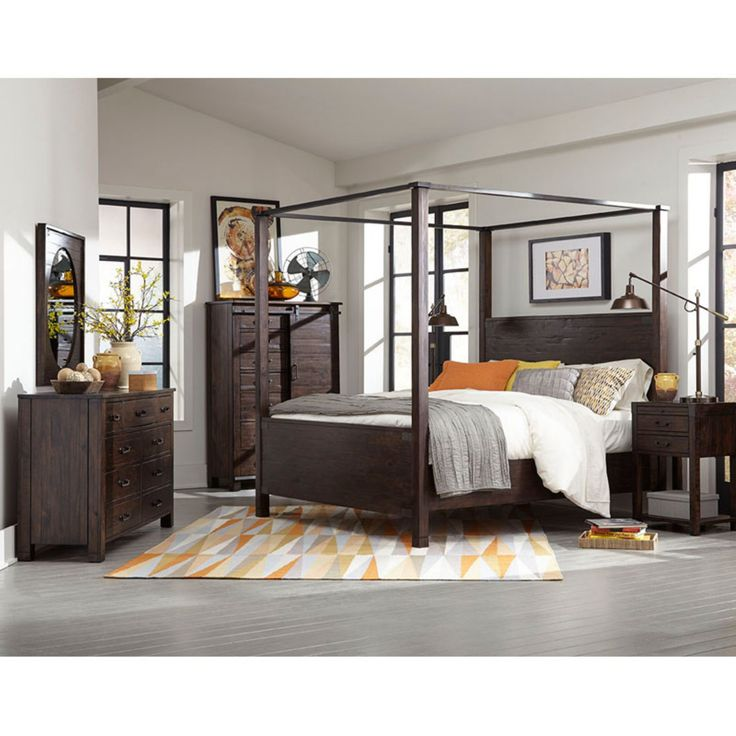 Magnussen Pine Hill Canopy Bed - MHF2676