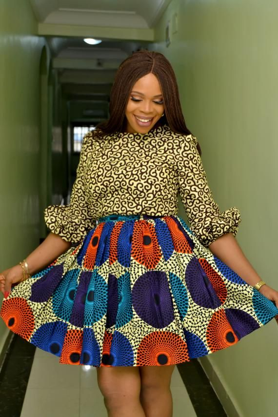 1a2c9bde6ec17 GlamzByAma African Dress, Mixed Prints, African Wax Print, Ankara Dress for  Women, Stylist Ankara To