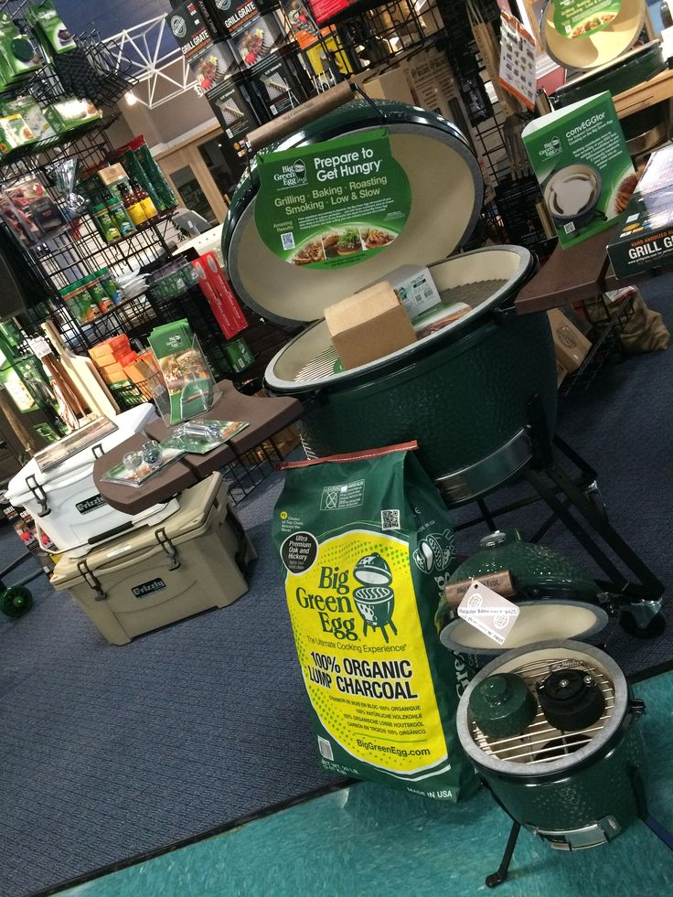 We're now a Big Green Egg dealer! We stock eggs, charcoal and LOTS of accessories! #BigGreenEgg #kamadoGrill