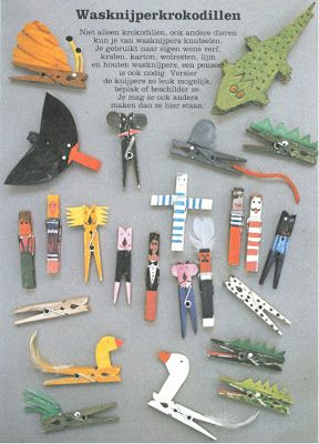 These imaginative clothespins are wonderful and would be fun for some #openended play.  For inspiration (no directions)