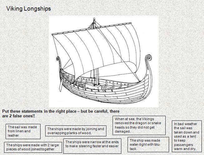 Viking Longboat Worksheet