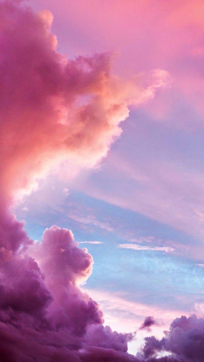 Pin On Fondos De Pantalla Pastel Sky Cloud Wallpaper Cotton Candy Sky Cute purple aesthetic wallpaper clouds