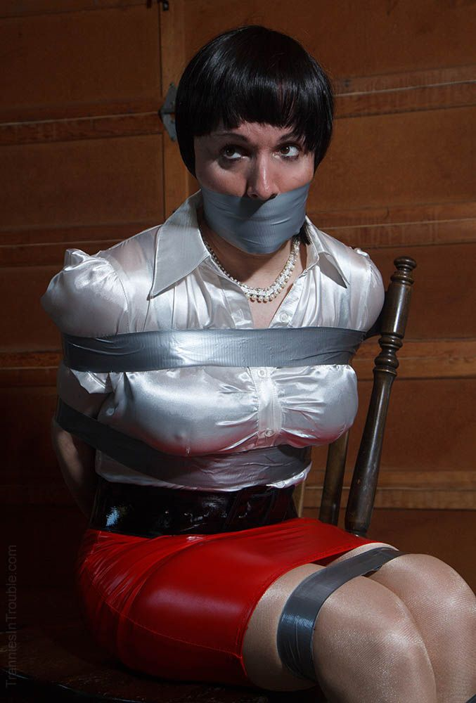 blouse worship | Bound | Sissy maid, Duct tape, Blouse