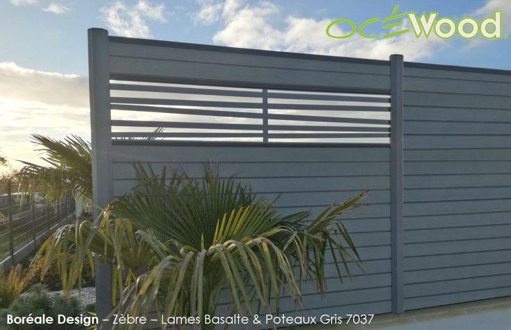 cloture bois composite avec lames deco aluminium Boréale Design - palissade en pvc jardin