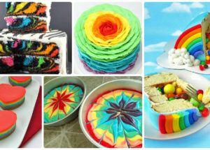 DIY Rainbow Cake Recipes Cake Design [Picture Insructions]