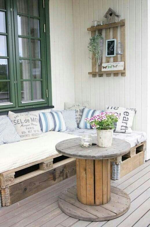 Muebles con material reciclado madera proyectos - Palet reciclado muebles ...