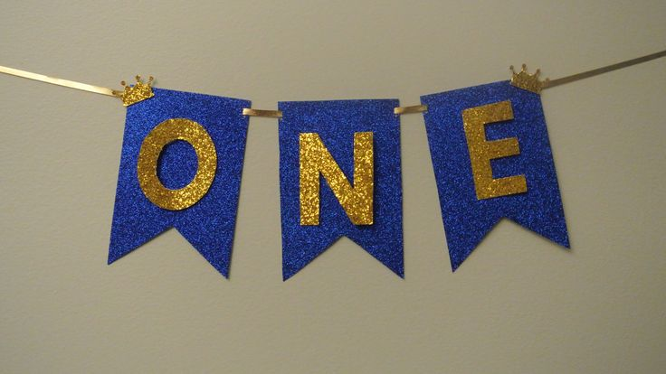 One Highchair Banner. Handcrafted in 1-3 Business Days. Royal Prince Party Decoration. By Paper Rabbit by PaperRabbit87 on Etsy