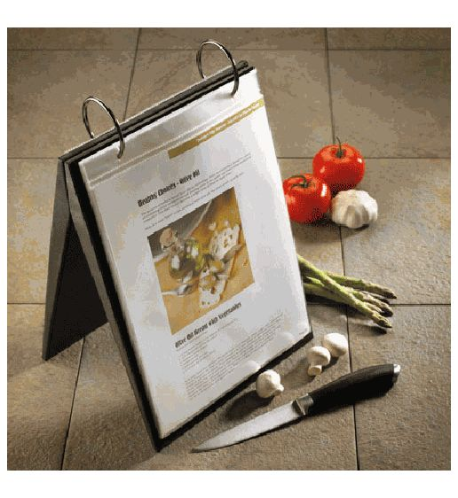 Portochef Recipe Easel in Black by Umbra @Organize.com This is a great idea for holding your own recipes.