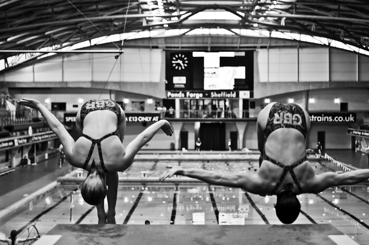 Divers at Ponds Forge, Sheffield