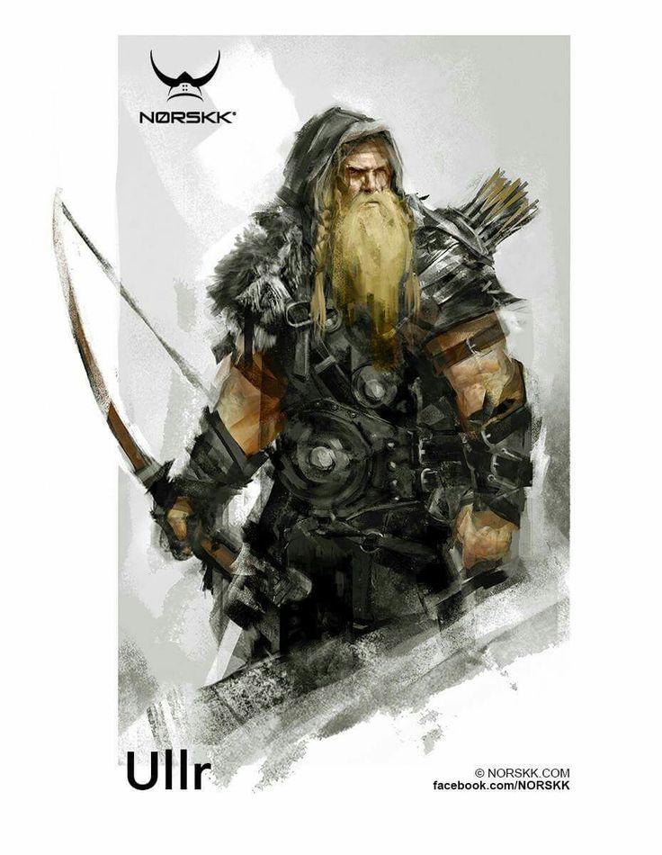 Ullr - dios de la arquería, caza, venganza, esquiar.
