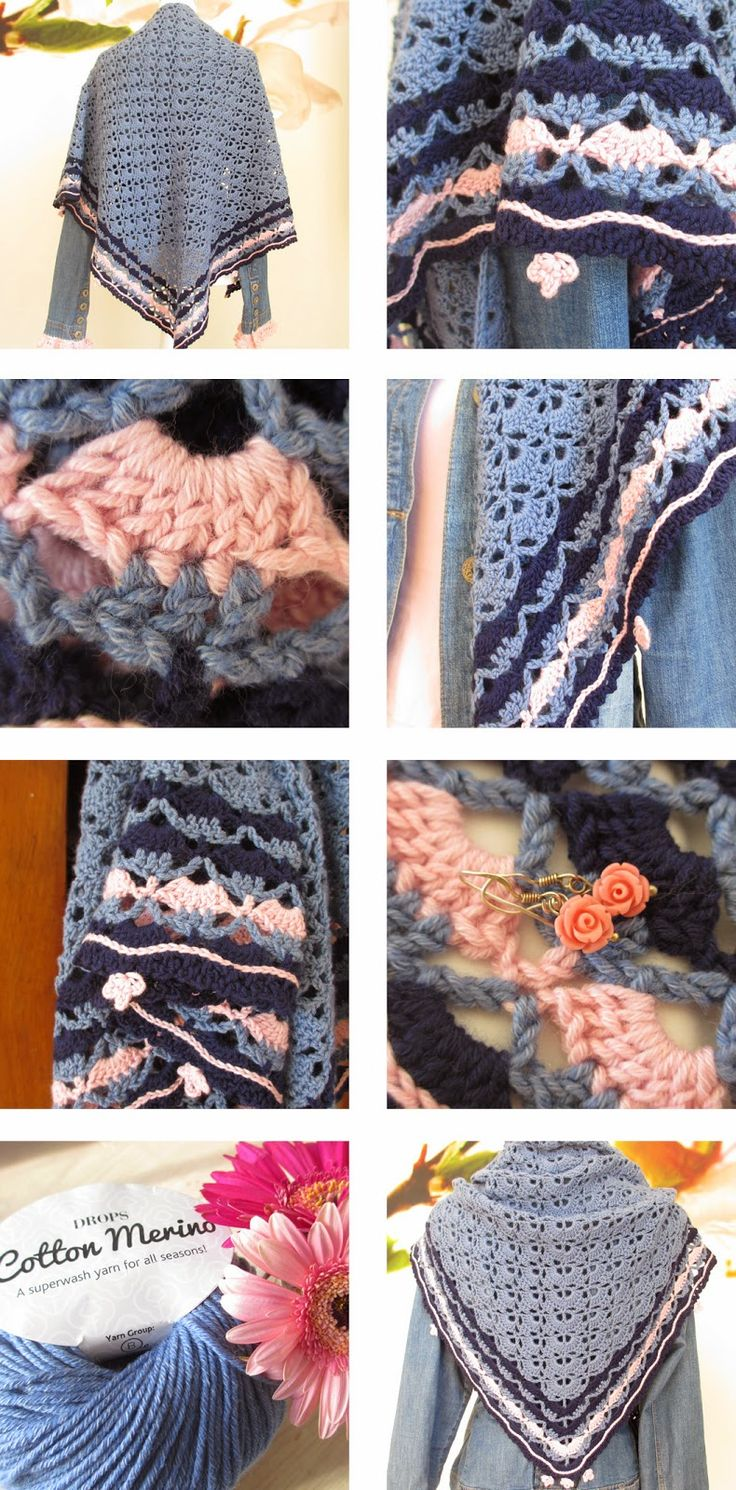 South bay shawlette with gorgeous border