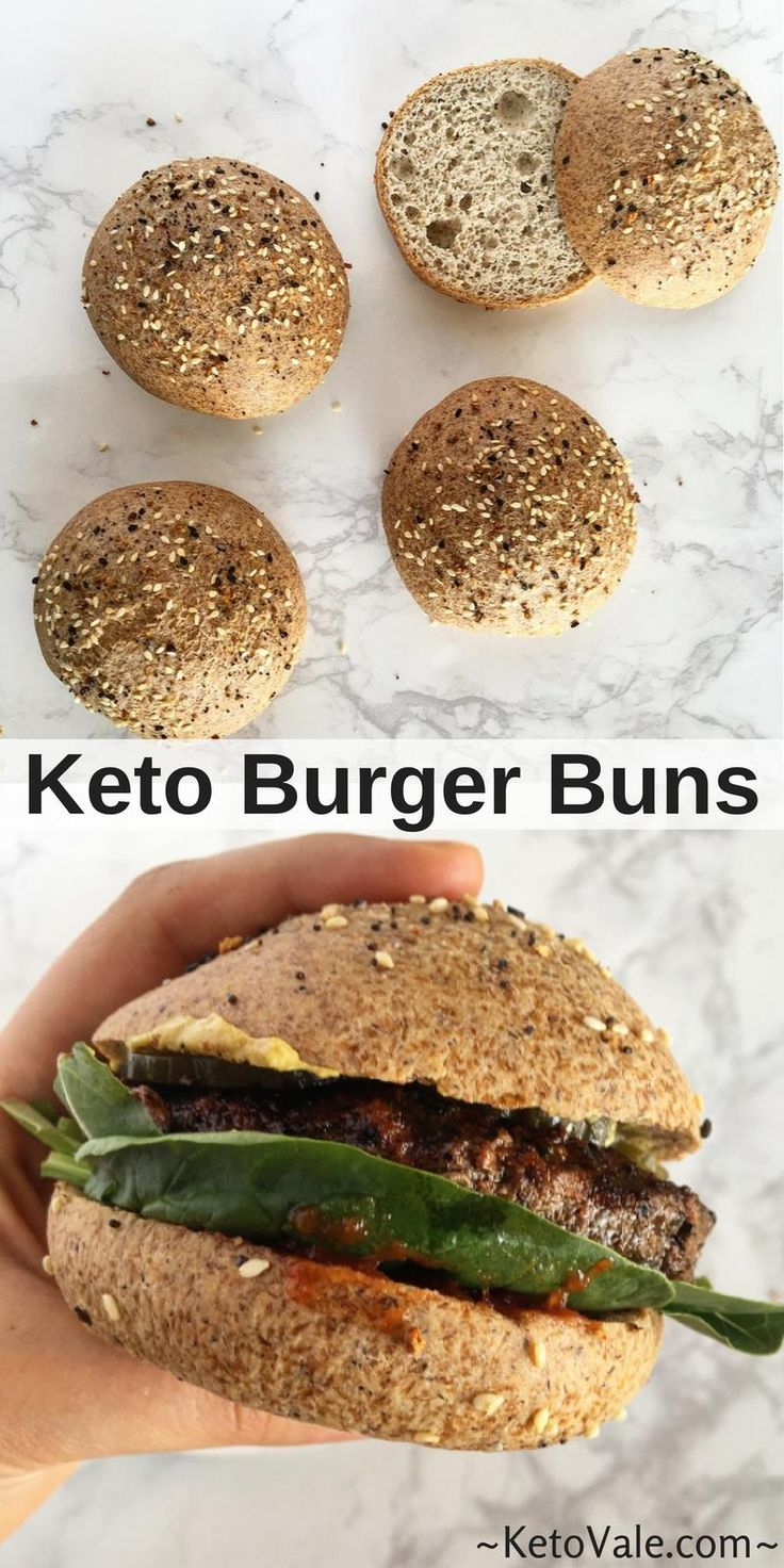 Keto Burger Buns - This is possibly one of the best low carb buns
