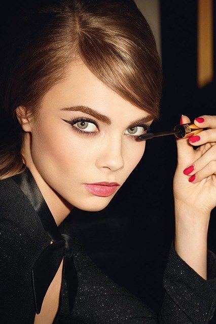 Cara Delevingne YSL Beauty Campaign - Baby Doll Mascara Yves Saint Laurent (Vogue.com UK)