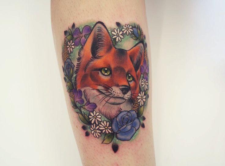 tatouage Renard Neo-Traditionnel