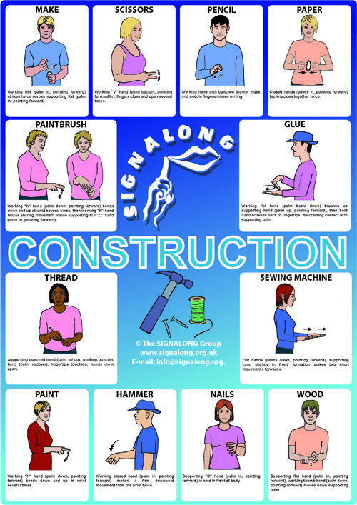 Construction - BSL (British Sign Language) Poster