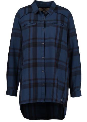Garcia Storskjorte ternet U60039 Ladies Shirt - washed indigo – Acorns