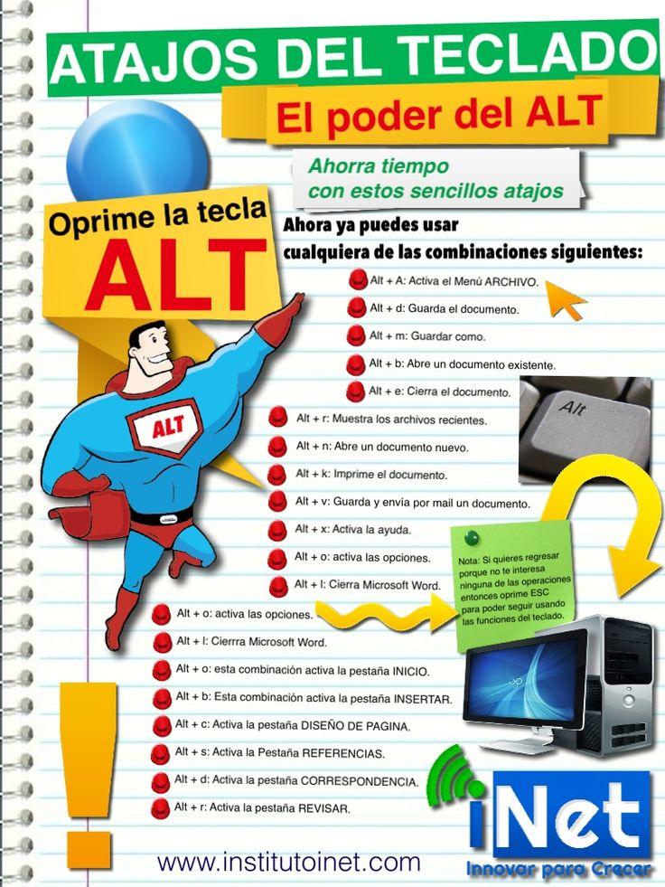 La Magia de la tecla ALT #teclado , #Tecnologia, #infografia, #accesos #directos