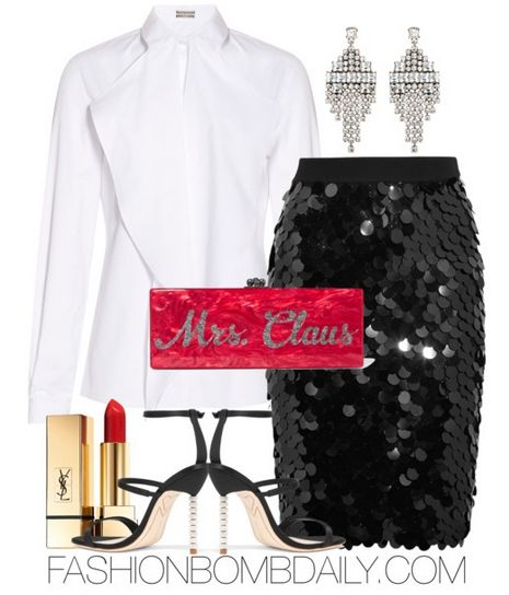 winter-2016-style-inspiration-sonia-rykiel-sequined-skirt-sophia-webster-rosalind-crystal-embellished-satin-sandal-edie-parker-flavia-acrylic-box-clutch