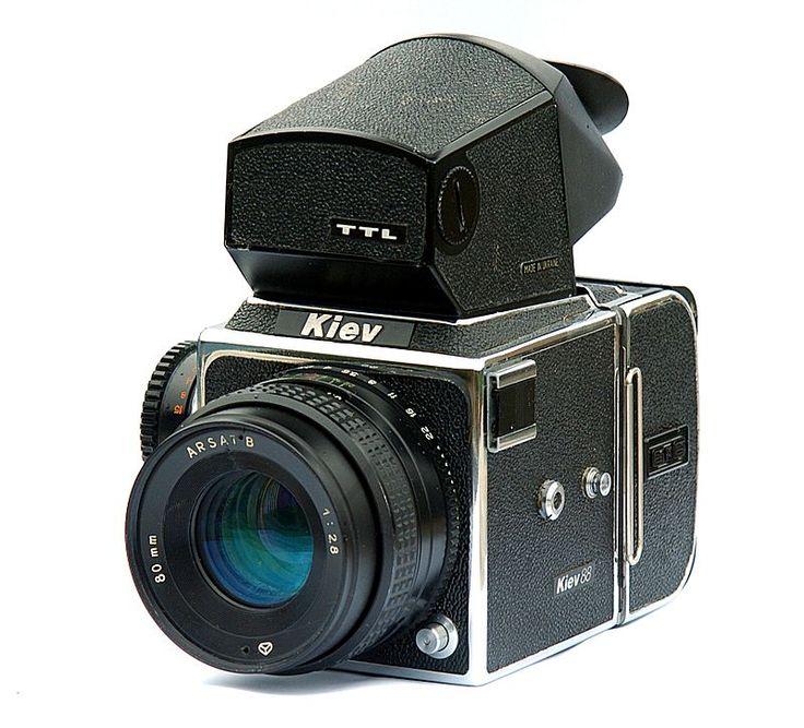 Среднеформатный однообъективный зеркальный фотоаппарат «Киев-88 TTL», СССР, 1979