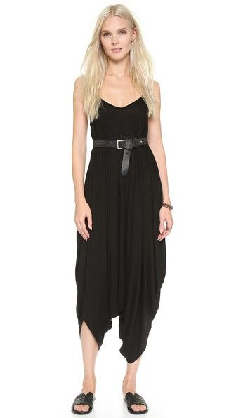 Jumpsuit tip: use a belt to define your waist. Shopbop.com -- Basic Terrain Harem Jumpsuit