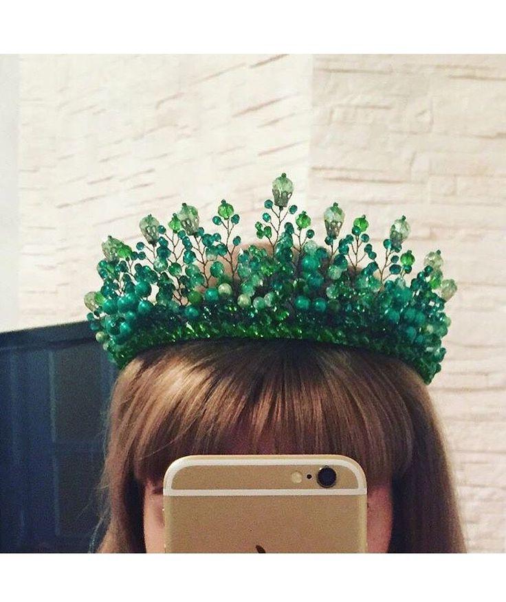 Купить Хрустальная Корона-диадема ручной работы - корона для принцессы, корона…