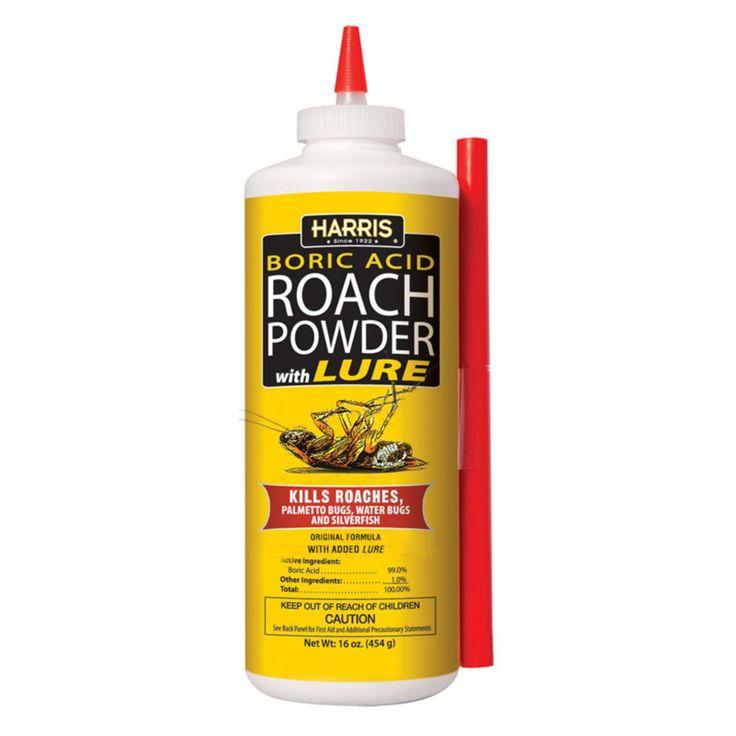 Harris 16 oz. Boric Acid Roach Powder with Lure - HRP-16