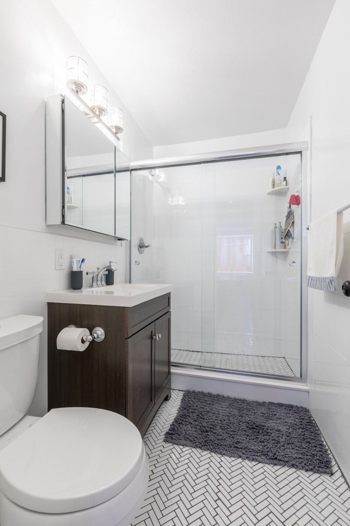 A New Jersey Condo Gets A Bright Side Shower Remodel Small Shower Remodel Bathrooms Remodel