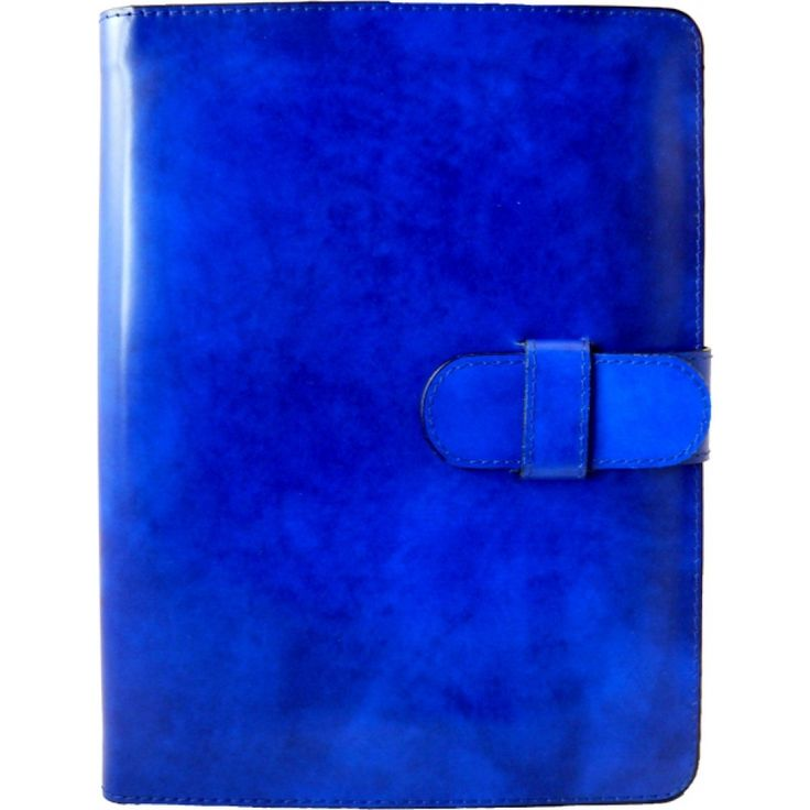 Electric blue #iPad leather cover by Pratesi Made in Italy