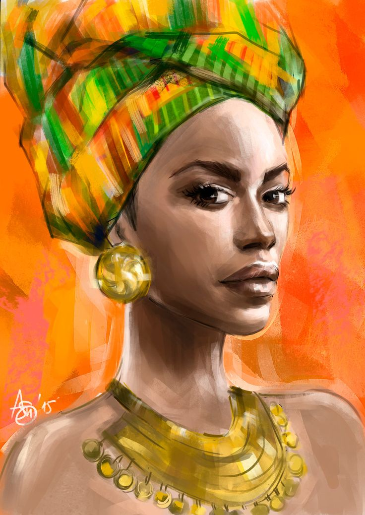 African woman by psichodelicfruit