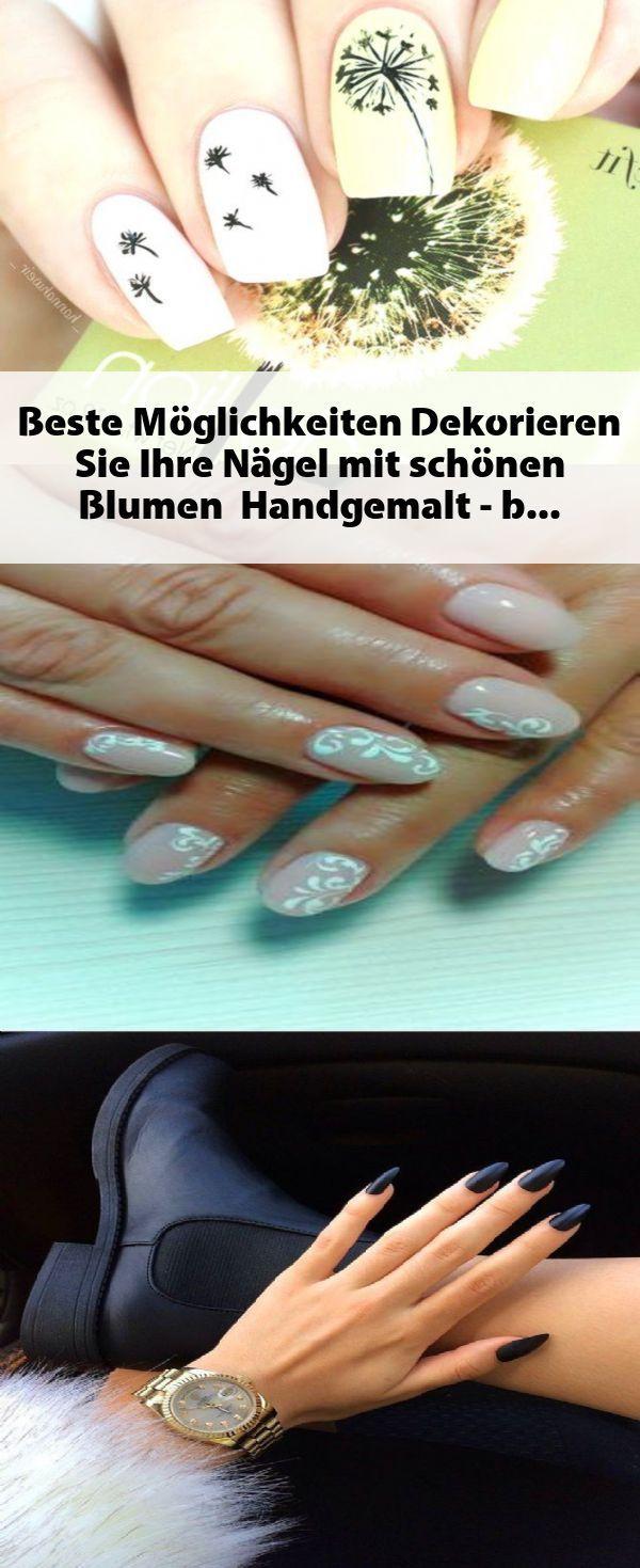Beste Möglichkeiten, um Ihre Nägel mit schönen Blumen zu dekorieren, handbemalt …   – Fingernagel