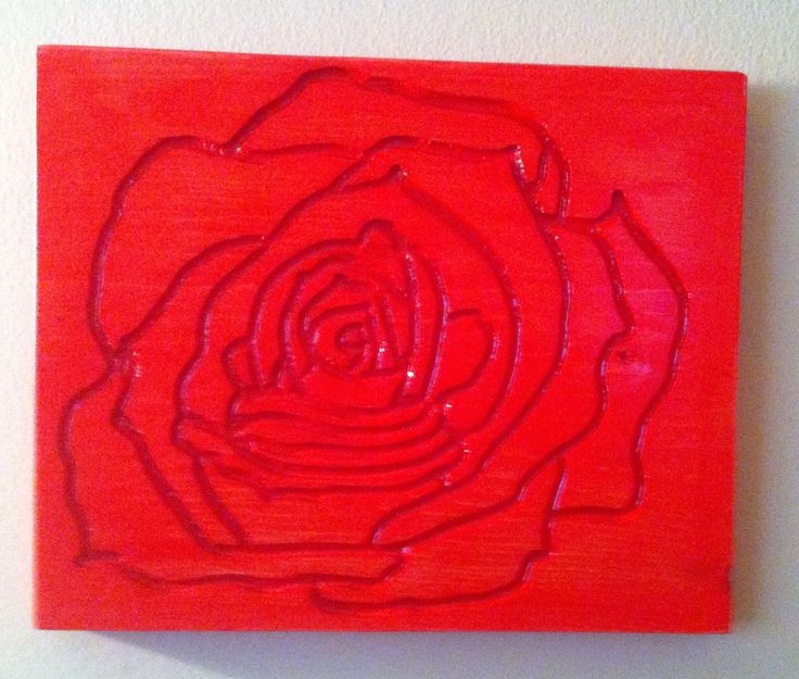 Hand Carved Rose