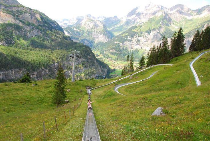 Alpine Slide in Kandersteg, Switzerland