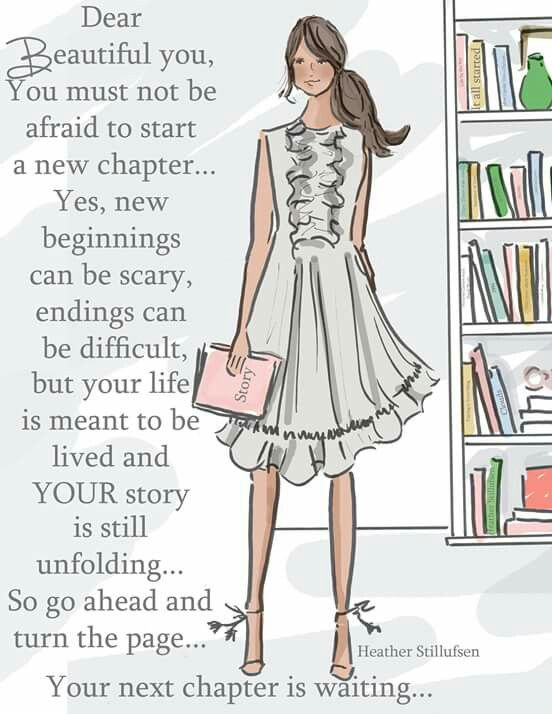 Don't be afraid to start a new chapter