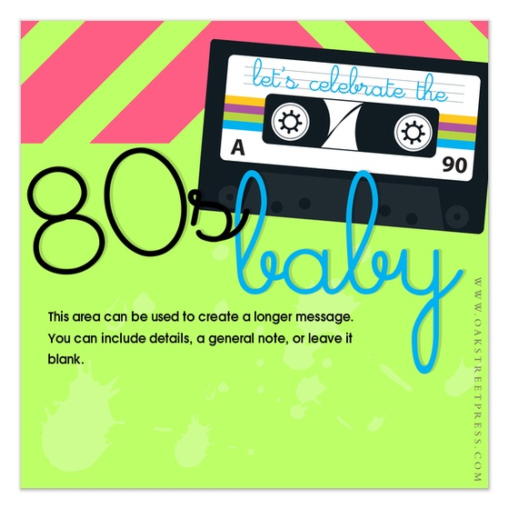 46 best images about Paper Obsession – 80s Party Invitation Template