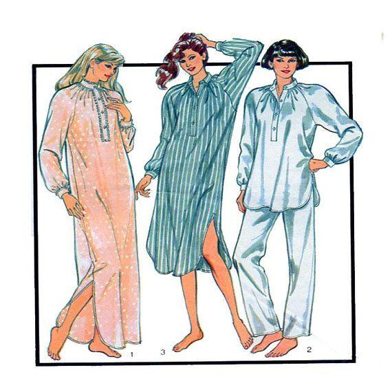 Style 4885 Women Sleepwear Nightgown Button Front